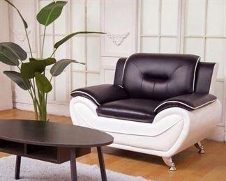 Orren Ellis Stcyr Black & White Armchair