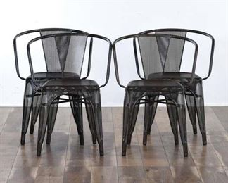 Set 4 Design Form Metal Stacking Chairs