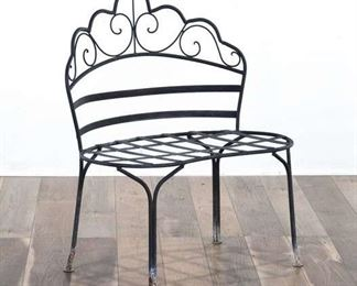 Victorian Style Scallop Back Patio Bench