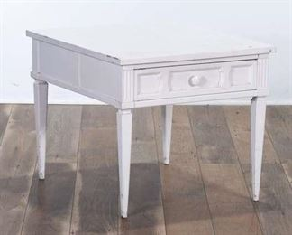 American Of Martinsville White Federal Style End Table
