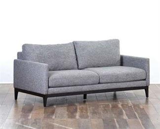 Contemporary Gray Tweed Loveseat