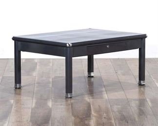 Modernist Steel Tipped Coffee Table W Storage