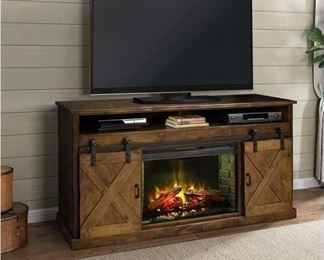 """Pullman Tv Stand For 70"""" Tvs W/ Electric Fireplace"""