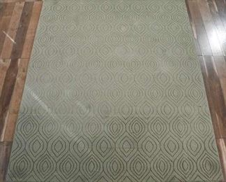 Soho Hand Tufted 100% Wool Olive Green Area Rug