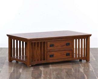 California Craftsman Coffee Table W Storage