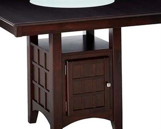 Gabriel Counter Height Dining Table W Wine Storage Base