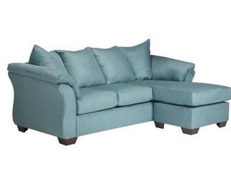 """Andover Mills Torin 89"""" Teal Reversible Sectional"""