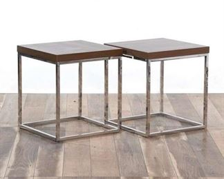 Pair Contemporary Openframe Cube End Tables