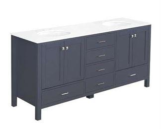 "Cheshunt Full Cabinet 72"" Double Bathroom Vanity Set"