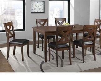 Darby Home Co Colne 7 Piece Solid Wood Dining Set