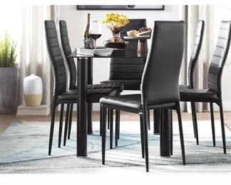 Wade Logan Aubree Dining Table In Black