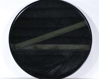 Contemporary Round Black Frame Mirror
