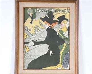 Print Henri De Toulouse-Lautrec Divan Japonais Advert