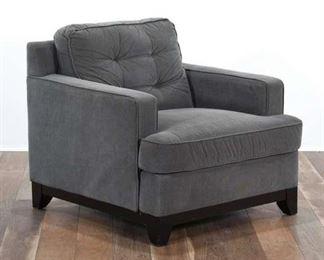 Slate Gray Thin Wale Corduroy Armchair 2