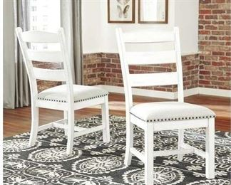 Pair Jasso Upholstered Ladder Back Side Chairs