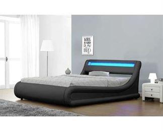 Partial Cali King Jovenko Storage Bed (Box 1 Of 3)