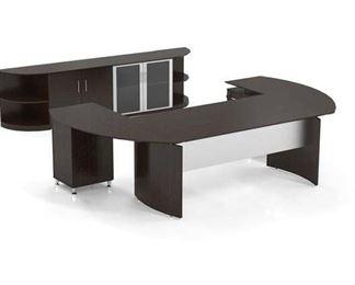 Symple Stuff Vandusen Configurable Office Set In Mocha
