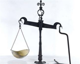 Victorian Iron & Brass Merchant'S Scale