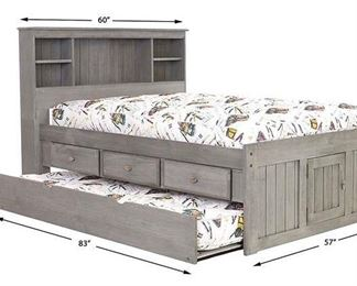 Charcoal Full Size Bookcase Headboard Only