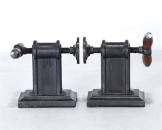 Contemporary Industrial Clamp Bookends