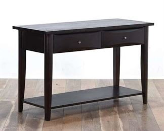 Contemporary Mission Style Console Table W Storage