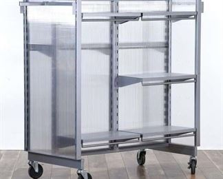 Industrial Storage Shelving Unit Display W Casters