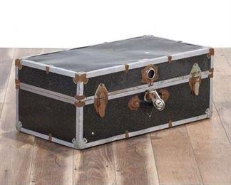 Vintage Gray Suitcase Trunk