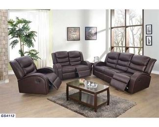 Latitude Run Mcpeak 3 Piece Living Room Set In Brown