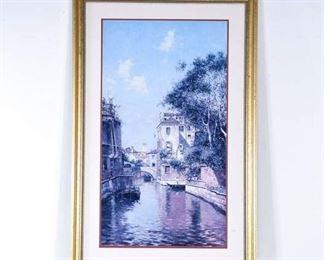 Print Venice Canal Landscape