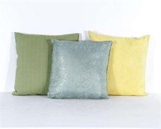 Set If 3 Mix Lot Green Blue & Yellow Throw Pillows