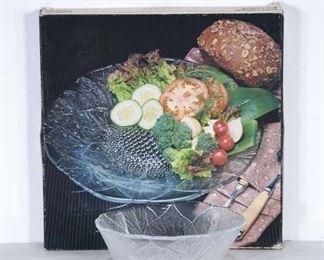 Pair Vintage Mikasa Floral Bowl & Platter