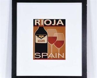 Print Rioja Spain Wine