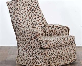 Floral Crewelwork Rocking Armchair
