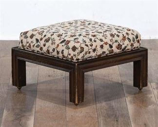 Floral Patterned Ottoman On Casters