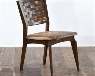 Accent Chair W/ Woven Back & Seat Cushion