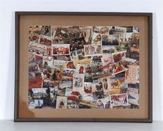 Large Framed Collage Puzzle Art