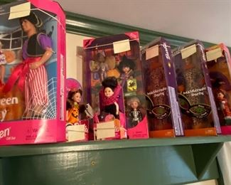 Barbies-boxes never opened, Mostly from 1990's