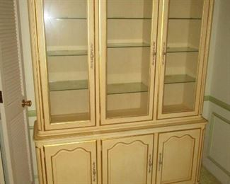 Kindel French provincial china cabinet