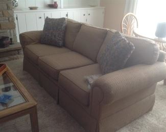 Clean and firm brown sofa......$225