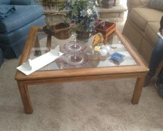 Glass top cocktail table...$65