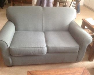 Soft green Loveseat...$85