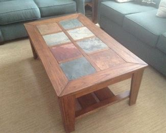 Slate topped coffee table...$75