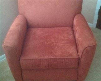 Peach suede side chair.....$95