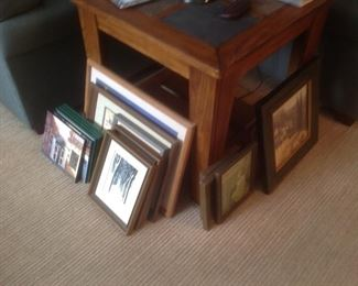 Lots of framed pictures