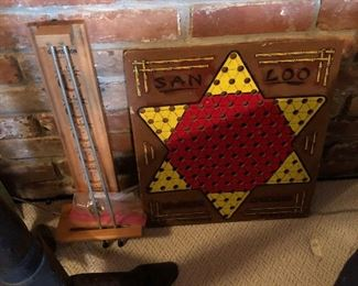 vintage chinese checker game board