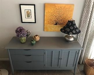 Painted chest/sideboard (gray).