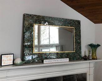 Large mosaic tile mirror.