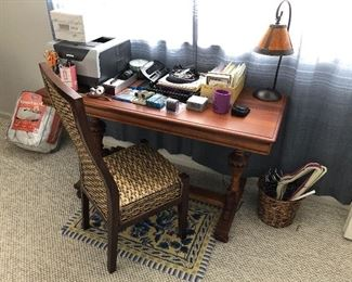 Unusual antique table -- the top folds out to double in size.