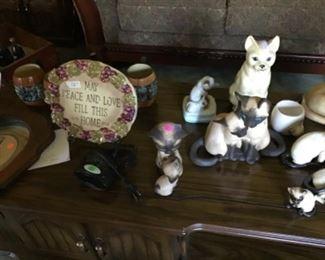 Ceramic cat collection