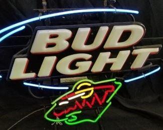 Minnesota Wild Bud Light Neon Light Sign